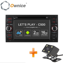 Ownice C500 2 Din Android 6.0 4 Core Car DVD Player For Ford Focus Mondeo Transit C-MAX Fiest With GPS Radio Support 4G LTE DAB+