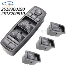 Para Mercedes-Benz ML GL A2518300290 W164 Frente Esquerda Interruptor Da Janela De Energia Elétrica 2518200510 25183000290