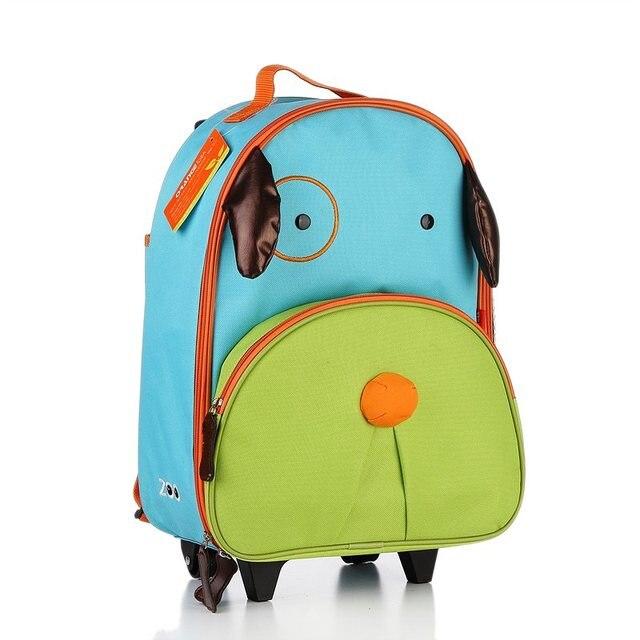 Child cartoon animal primary school student trolley bag child luggage trolley travel bag  2017
