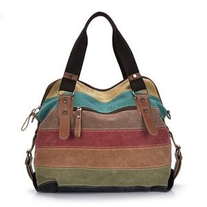Image 4 - Canvas Women Messenger Bags High Quality Womens Shoulder Bags Handbags Female Famous Brands Crossbody Bag Bolsos Mujer
