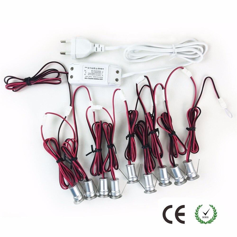 Mini 1W LED Spotlight Indoor Corridor Stair Lighting AC85 277V Dimmable 120D Ceiling Light 15mm Cutout