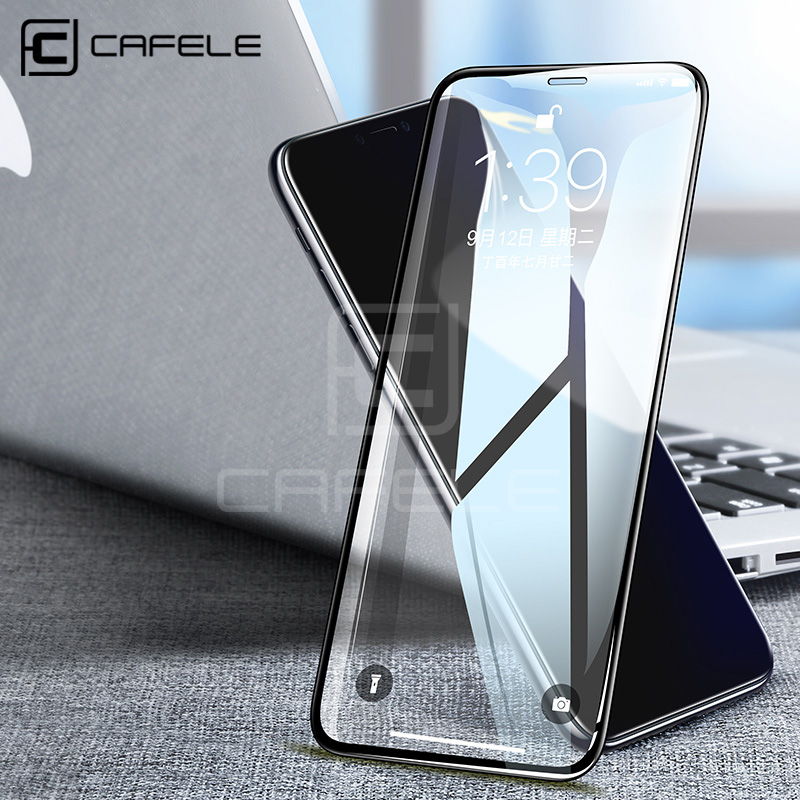 CAFELE Full Tempered Glass For IPhone X XS Max XR Screen Protector For IPhone X 5.8 6.1 6.5 Inch Ultra Thin Full Covered Film
