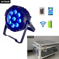 4pcs/CASE Stage par led batterie dmx 9x12w rgbwa uv waterproof led par battery 6in1 battery outdoor par uplighting weddings case