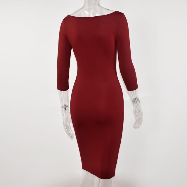 Club Low Cut Bodycon Dress 3