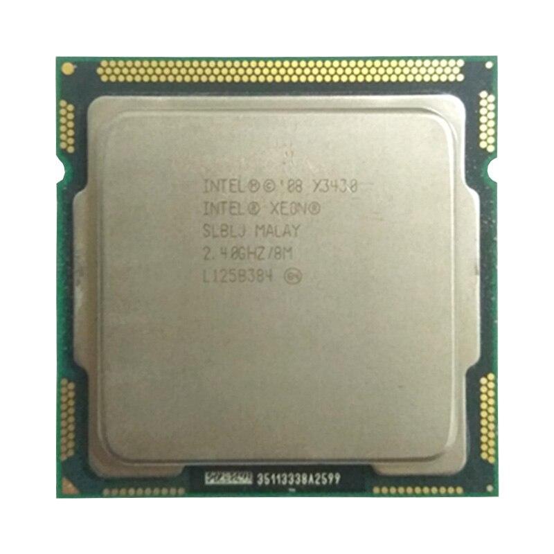INTEL Xeon X3430 CPU LGA1156 Socket /2.4GHz /L3 8MB/Quad-Core Processor Othe Have A X3440 X3450 Server CPU Sale