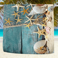 Nautical Starfish Print 3D Beach Towel 75x150cm