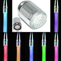 LED Wasserhahn Temperatur Sensor Küche LED Licht Wasser Armaturen Tap 1/3/7 Farbe RGB Glow Dusche Stream küche Bad Dropship