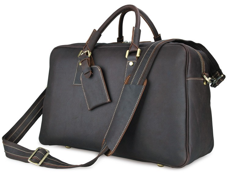 J.M.D J.M.D  Simple Style And Classic Shoulder Bag First Grade Cow Leather Travel Bag Dark Brown Travel Duffel For Men 7156Q xyx q simple