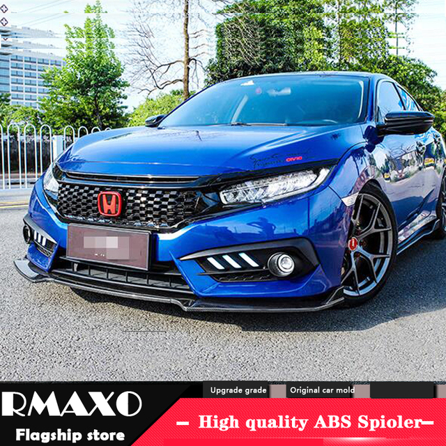 For Honda Civic Abs Rear Bumper Diffuser Protector For 2017 2018 Civic Body Kit Bumper
