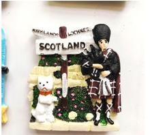 Scottish player and dog special tourist souvenir refrigerator