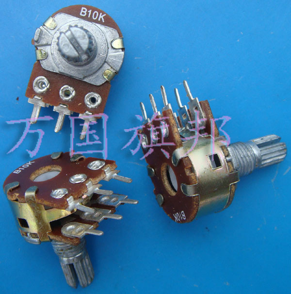 Free Delivery. WH148 potentiometer B10K double six feet short shank