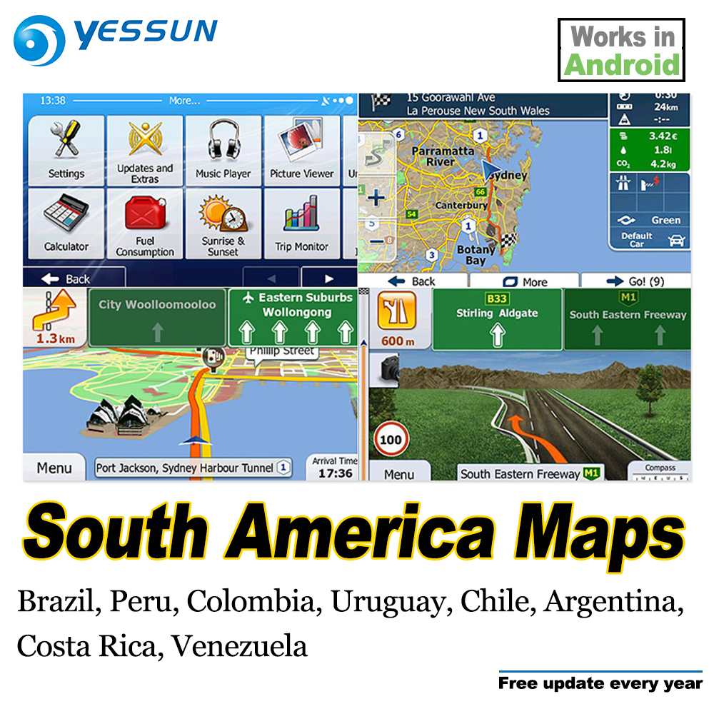 Fast Deliver 8gb Sd Card Car Gps Navigation Maps Card Android For South America Maps Brazil Peru Colombia Uruguay Chile Argentina Costa Rica
