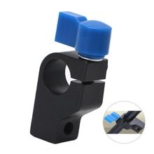 "1PCS Professional 15mm Rod Clamp Holder ""1/4"" Thread DSLR Camera Rig Rail Support System Arm"