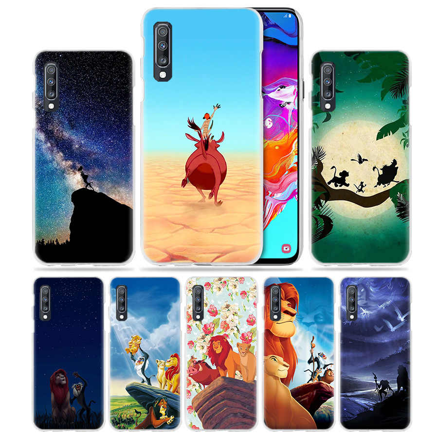 Anime Case for Samsung Galaxy A50 A70 A20e A40 A30 A20 A10 A8 A6 Plus A9 A7 2018 Hard Clear Phone Cover Hakuna Matata lion king