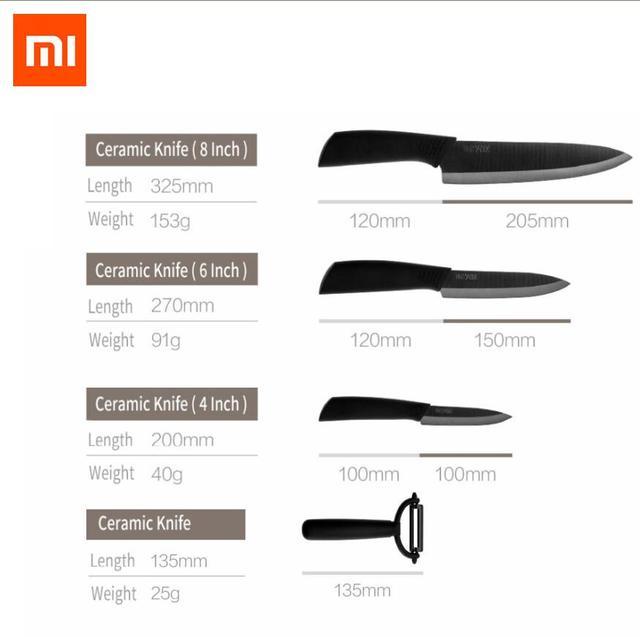 Xiaomi Mijia Kitchen Knife Nano-Ceramic Knives Cook Set 4 6 8 Inch Furnace Thinner xiaomi Ecological Chain Brand Huohou new gift