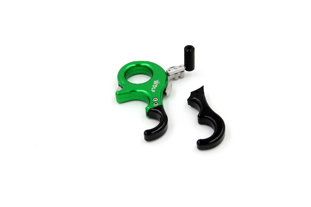 4 finger and 3 finger replaceable bow Caliper  Release aid for compound bow hunting Free Shiping