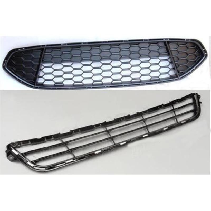 Aliexpress Com Buy Chrome Front Upper Grill Grille For: 2pcs Chrome Front Bumper Upper Grile&Lower Grill Grille