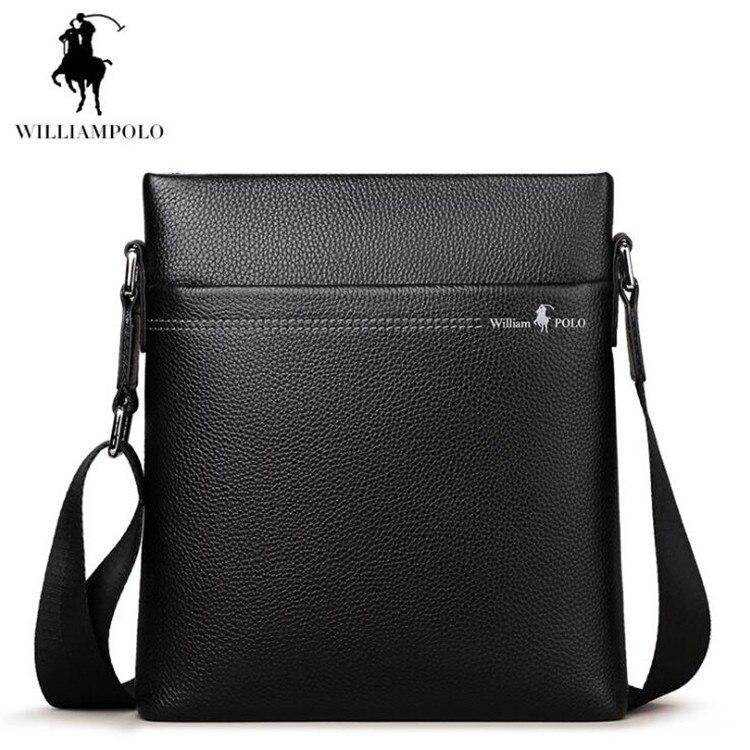 Business Men Shoulder Bag Genuine leather Crossbody bags Cowhide M bags