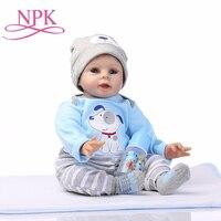 NPK Baby Reborn Doll Boy Alive Toys for Children Cute Girls Toys 22 Inch 55cm Soft Silicone Body Baby Dolls Birthday Gift
