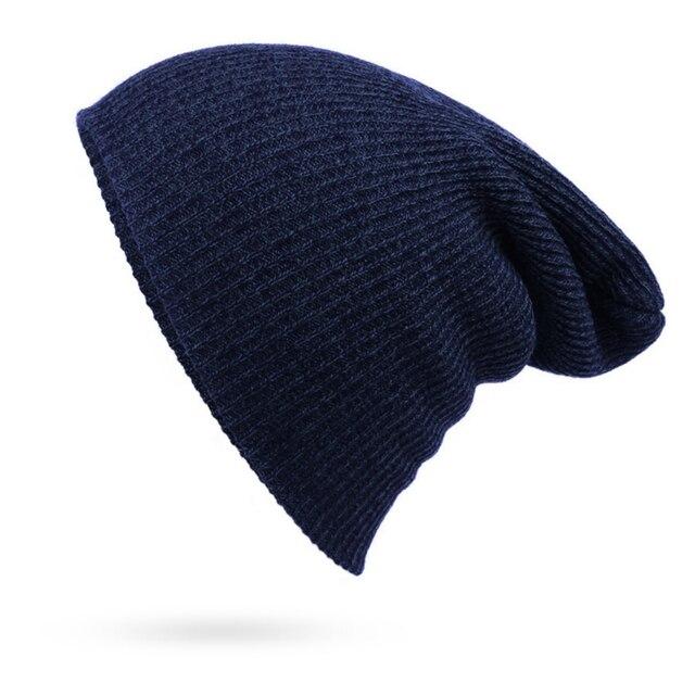 אופנה כובע מזדמן Skullies & בימס גברים נשים חם סרוג Skullies מצנפת מוצק היפ הופ כפת כובע Gorro כובעי יוניסקס & Caps