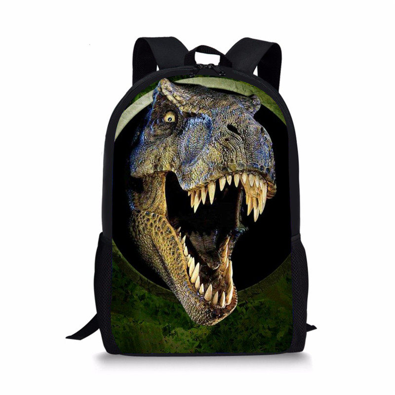 FORUDESIGNS Shark Wolf Printing Backpack for Teenagers Girls Boys, 3D Dinosaur Kids Backpacks,Children Bagpack Back Pack mochila