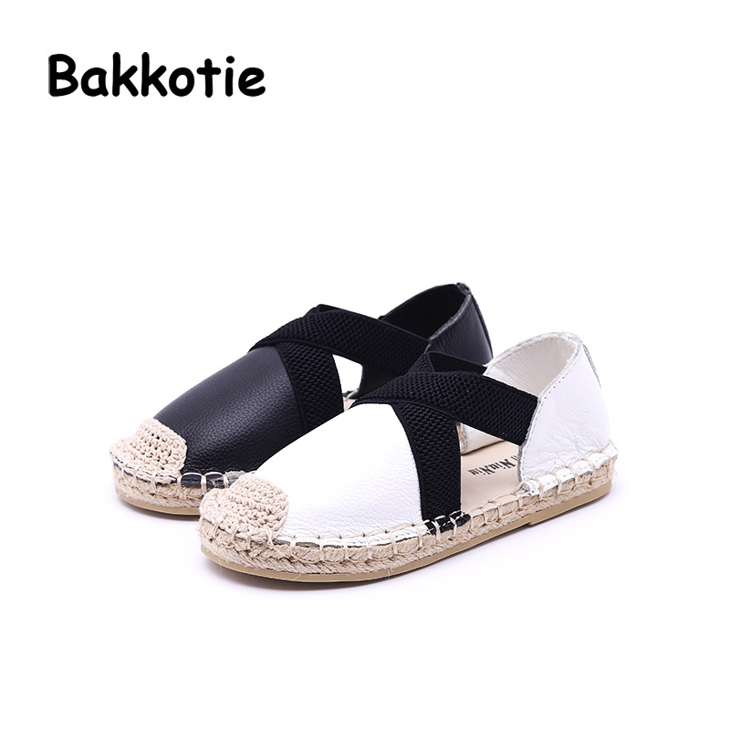 Bakkotie 2018 Summer Toddler Genuine Leather Shoe Children Fashion Black  Espadrille Baby Girl Brand Flat Kid Black Soft-in Leather Shoes from Mother    Kids ... ac077c1143f5