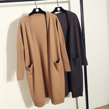 High Quality Wool Cardigan Women Sweater 2019 Autumn New Arrival Casual Oversize Coat Women Long Sweaters