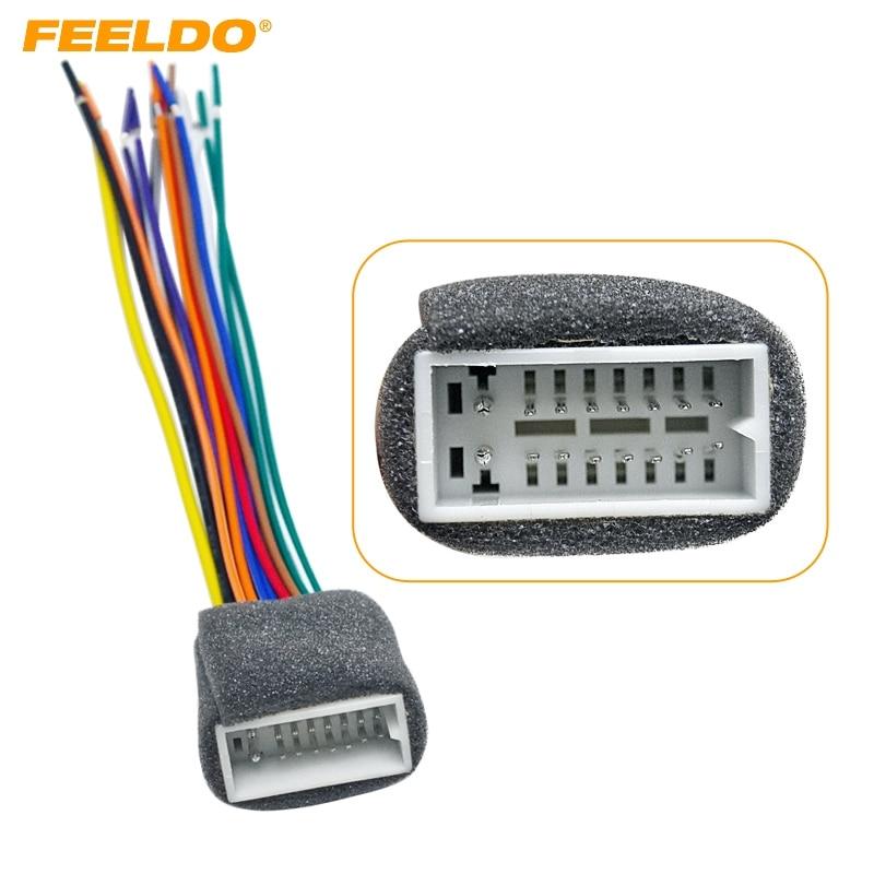 Feeldo 5pcs Car 16pin Wire Harness Plug Cable Female
