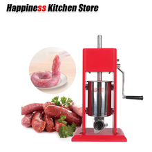 3L Manual Sausage Stuffer Filler Salami Maker Hand Operated BigFunnel Homemade Meat