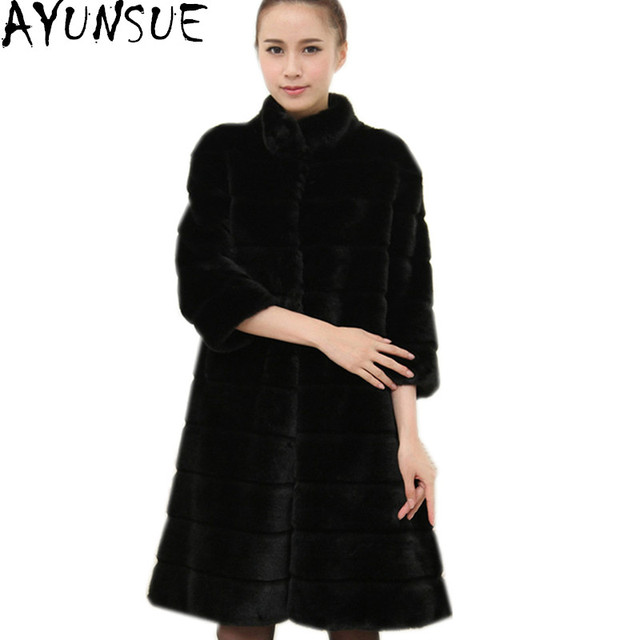 Online Shop AYUNSUE Faux Fur Coat 2017 Womens Winter Jackets ...