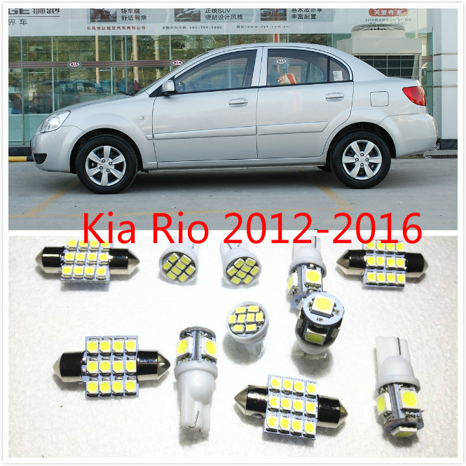 11 set White LED Lights Interior Package T10 & 31mm Map Dome For Kia  Rio Optima  Sportage Soul Sorento 2012-2016 new piece motorcycle gauges cover case housing speedometer for bmw s1000rr 2009