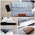 Moda 11,13, asimiento de la mano de fieltro de lana interior de 15 pulgadas portátil laptop sleeve bolsa caso bolsa de asa de transporte para el macbook air/pro/retina