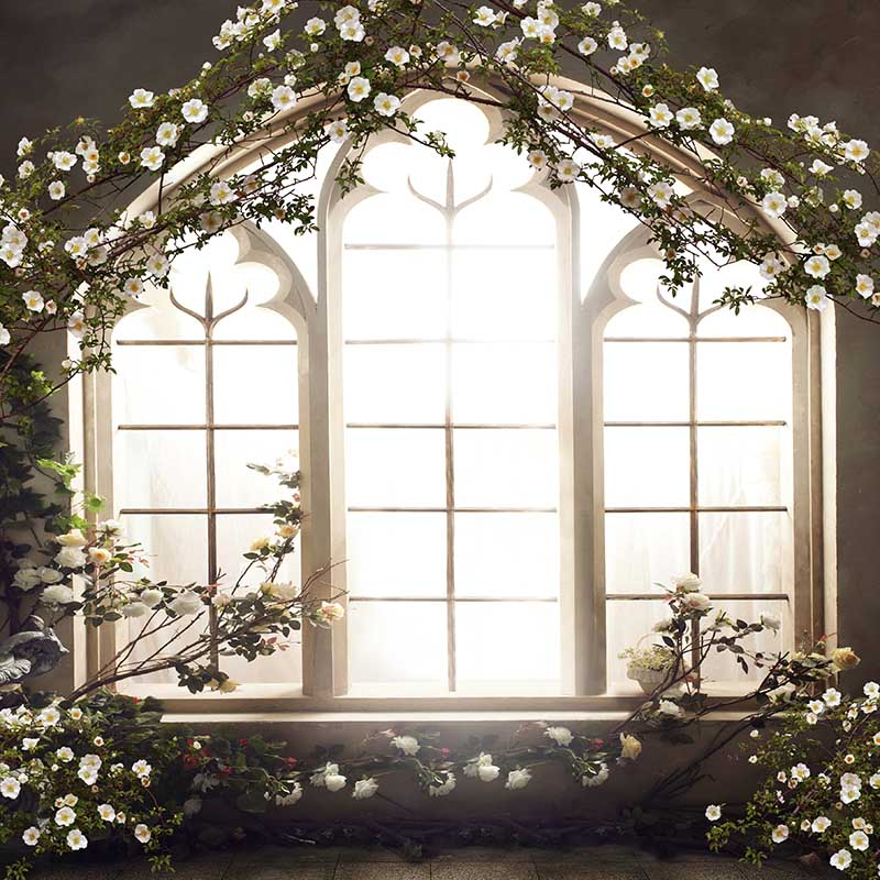 MEHOFOTO Vinyl Photography Background Vintage Castle Flower Window Computer Printed Wedding Backdrops for Photo Studio CM 6560 in Background from Consumer Electronics