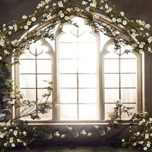 MEHOFOTO Vinyl Photography Background Vintage Castle Flower Window Computer Printed Wedding Backdrops for Photo Studio CM-6560 10x16ft wedding room seamless vinyl photography backdrops computer printed cm5269 golden castle background for photo studio