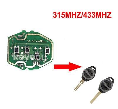 Prix pour 2 PCS/LOT Nouveau EWS Télécommande carte de Circuit pour BMW 3 Bouton 315/433 MHz Sans Clé Shell Peut fréquence réglable