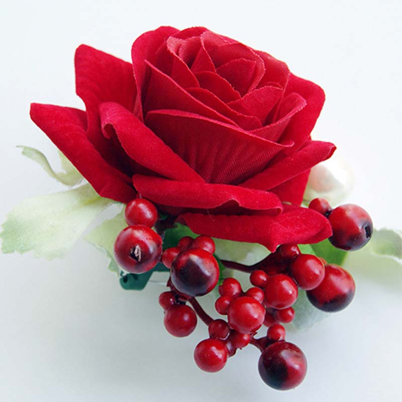 Garden Rose Boutonniere popular red rose boutonniere-buy cheap red rose boutonniere lots