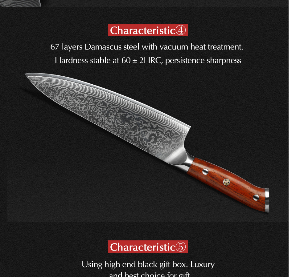 HTB1LWOUaZfrK1Rjy0Fmq6xhEXXay - 8.5 inch Chef Knives High Carbon VG10 Japanese 67layer Damascus Kitchen Knife Stainless Steel