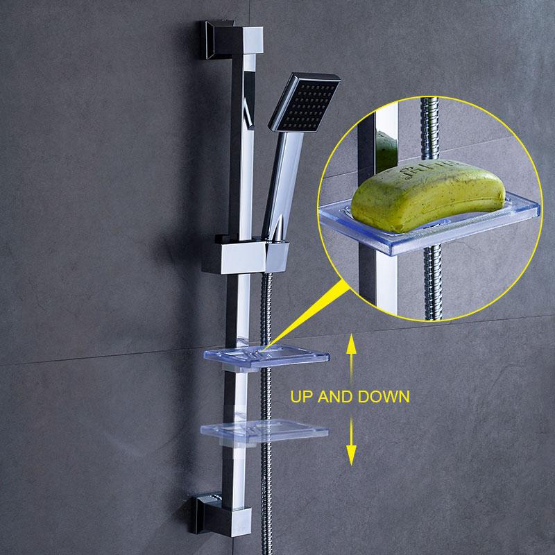 ROVATE bathroom Shower Slide Bar Stainless steel  Accessories Wall Mount Shower Sliding Head Holder