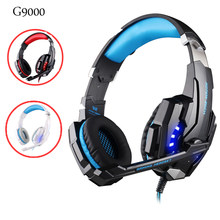 G9000 Gaming Headsets Big Headphones with Light Mic Stereo Earphones Deep Bass for PC Computer Gamer Laptop PS4 New X-BOX(China)