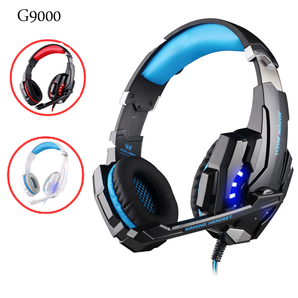 Gaming Headsets Wired Headphones with Microphone Light for a Mobile Phone Deep Bass Auriculares Con Cable for PS4,PC New Xbox 1