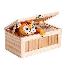 Venda quente crianças nova caixa inútil eletrônico com som bonito tigre brinquedo presente de estresse redução de mesa