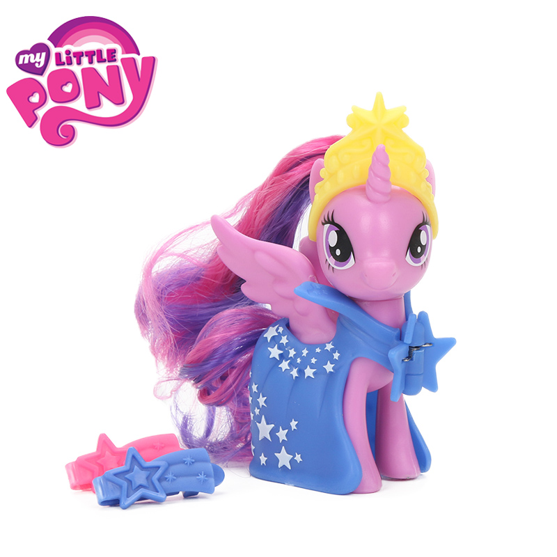 My Little Pony Toys Fashion Princess Twilight Sparkle Fluttershy Rainbow Dash PVC Action Figure Friendship is Magic Model Doll my little pony toys the movie princess cadance celestia pvc action figure friendship is magic model doll glitter celrbration