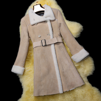 nouvelles dames de mode manteau de fourrure d'hiver, une pièce élégant mince vêtement de fourrure moyen- long fq1360 livraison gratuite veste en peau de mouton