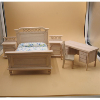 Simulación De 112 Casa Juguetes Mesa Miniatura Cama Madera Para Educativos Juego Muñecas Muebles Diy Juguete 7gvYfyIb6