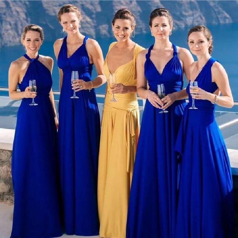 Temperament Bridesmaid long sister group dress 2018 bride