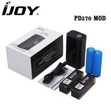 Original IJOY Captain PD270 Box MOD Vape 234W NI/TI/SS TC Electronic Cigarette Vaper Power by Dual 20700 or 18650 Battery