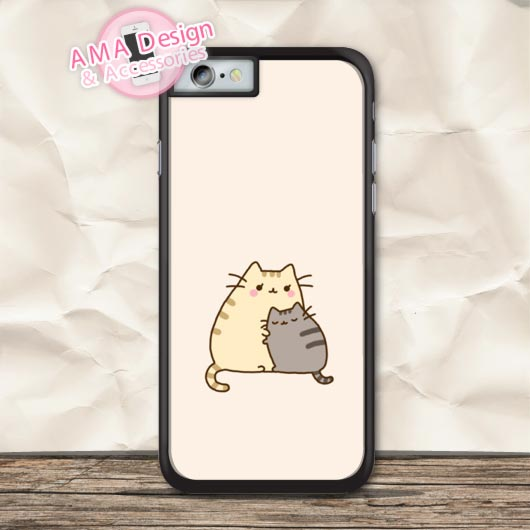 Cat Mom And Son Lovely Cute Protective Case For iPhone X 8 7 6 6s Plus 5 5s SE 5c 4 4s For iPod Touch