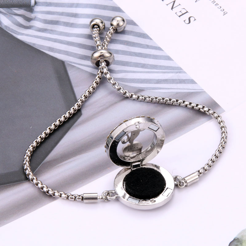 Perfume Bracelet Essential Oil Diffuser Aromatherapy Locket Bracelet Tree of Life 316L Stainless Steel Diffuser Bracelet