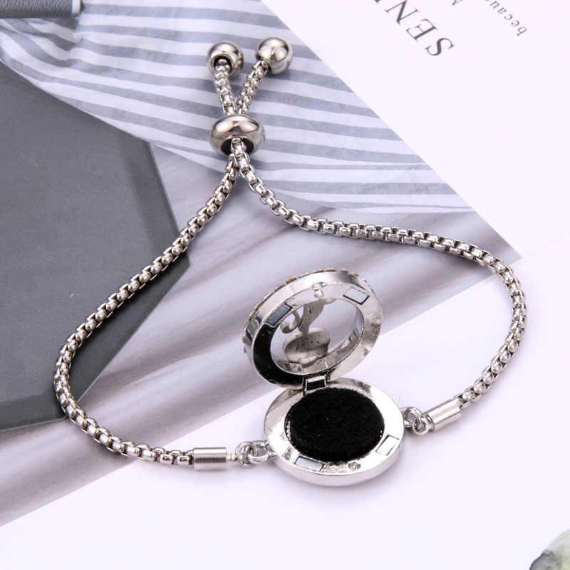 Pulseira de perfume difusor de óleo essencial aromaterapia medalhão pulseira árvore da vida 316l aço inoxidável difusor pulseira