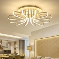 Современные Потолочные светильники с акриловой абажуром потолочный светильник Kristal живой свет Спальня Luces дель Techo гостиная плафон лампы